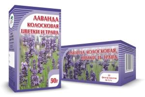 ЛАВАНДА, цветки и трава